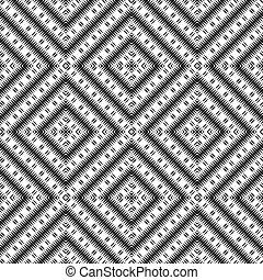 moquette, papier peint, couleurs, noir, texture, vecteur, rhombs, blanc, ou, ethnique, pattern.
