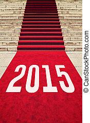 moquette rouge, à, nombre, 2015