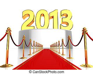 moquette rouge, à, nouvel an