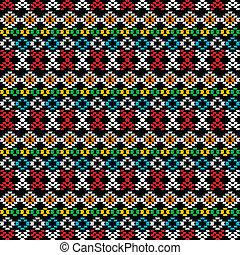 moquette, seamless, forme, fondo, etnico, geometrico
