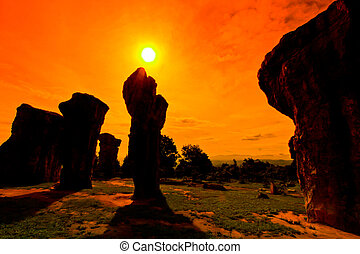 Mor Hin Khao, Stonehenge of Thailand in Chaiyaphum Province
