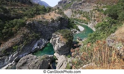 Moraca Canyon. North of Montenegro. Canyon in the mountains...