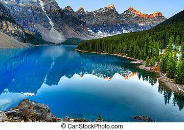 moraine 湖