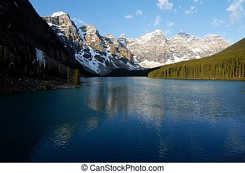 Moraine Lake in the morning, Canadian Rockies, Canada