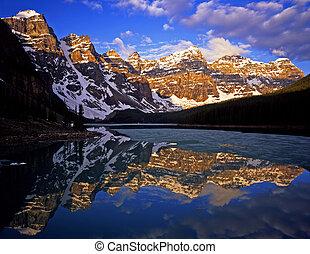 Moraine Lake#4 - Moraine Lake in Banff National Park located...