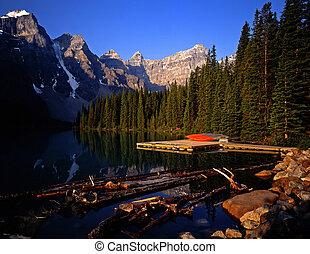 MorainLake#1 - Moraine Lake in Banff National Park located...