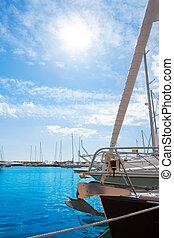 Moraira Alicante marina in Mediterranean sea
