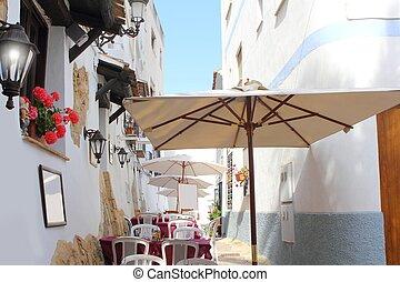 Moraira Teulada mediterranean village streets Alicante...