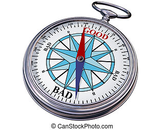 Moral compass - Illustration of a moral compass helping you...