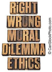 moral, concept, dilemme