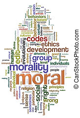 Illustration of wordcloud related to word 'moral'