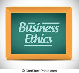 moralidad negocio, mensaje
