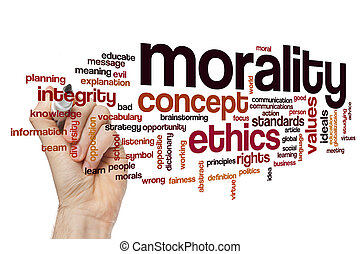 Morality word cloud concept