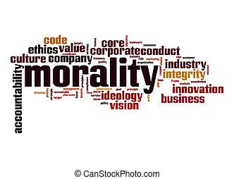 Morality word cloud