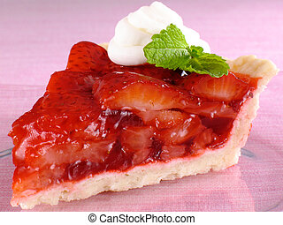 morango fresco, torta