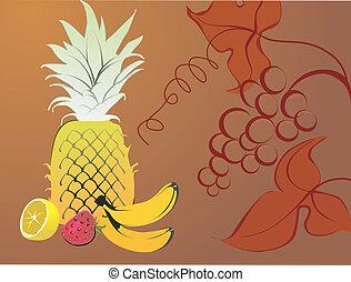 moranguinho, banana