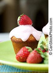 moranguinho, cupcake