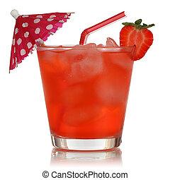 moranguinho, fruta, isolado, bebida