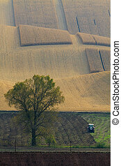 Moravian Fields. The landscape around Kyjov called the Moravian Tuscany, Czechia, Europe.