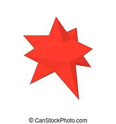 Moravian star star icon, cartoon style