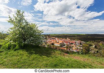 Moravsky Krumlov, picturesque town in southern Moravia,...