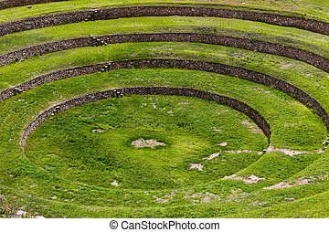 Moray Inca Terraces, Peru
