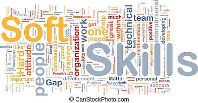 morbido, abilità, fondo, concetto