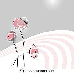 morbido, fiore, disegno
