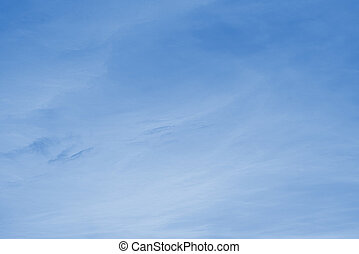 morbido, nubi bianche, contro, blu, sky.