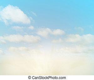 morbido, nubi, fondo