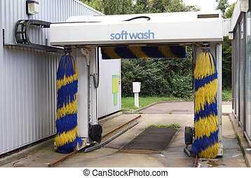 morbido, wash., lavaggio i automobile, spazzole