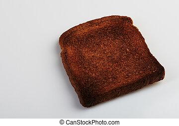 morceau, brûlé, pain