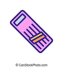 morceau, contour, icône, vecteur, frottement, râpe, ...