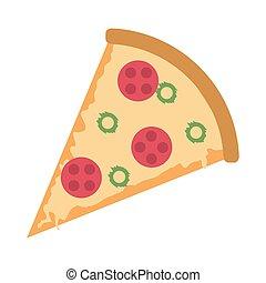 morceau, délicieux, pizza