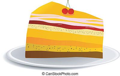 morceau, de, a, tarte