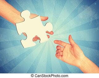 morceau jeu, puzzle