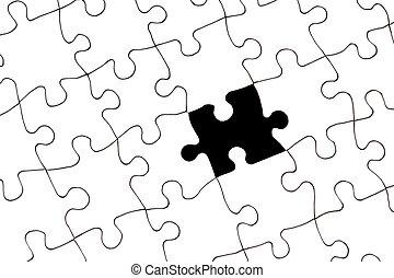 morceau, puzzle, disparu
