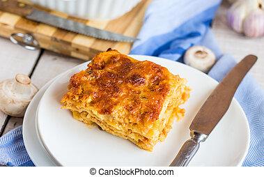 Photos et images de tomate champignons lasagne 375 for Fournisseur cuisine italienne