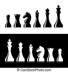 morceaux, échecs, icônes