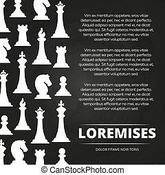 morceaux, tableau, échecs