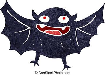 morcego, caricatura, vampiro