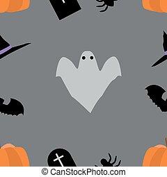 morcego, fantasma, aranha, contínuo, dia das bruxas, fundo, feiticeira, chapéu