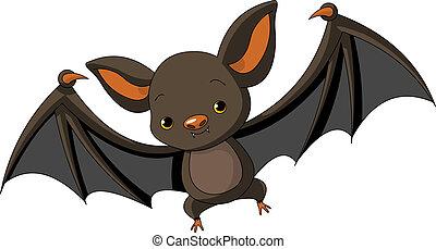 morcego halloween, voando