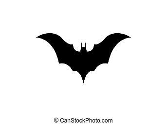 morcego, logotipo, vetorial