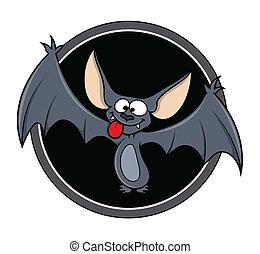 morcego, vetorial, caricatura