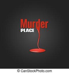 mord, design, blod, bakgrund