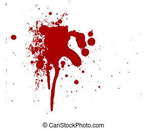 mord, spritzen, horror, gewalttätigkeit, tropfen, blutig, ...