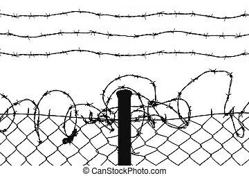 mordaz, alambres, alambró, cerca