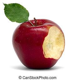mordedura, manzana