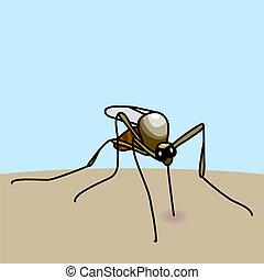 mordedura, mosquito